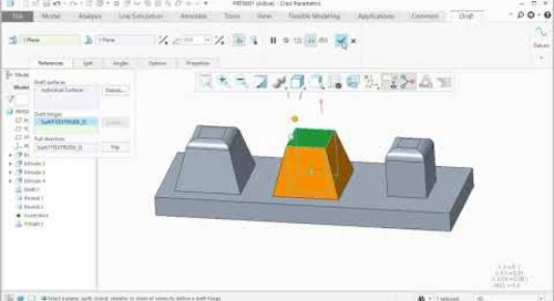 Draft Improvement in Creo Parametric 5.0