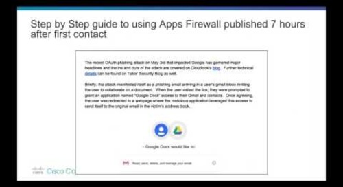Google OAuth Phishing Attack - Cisco Cloudlock Customer Q&A