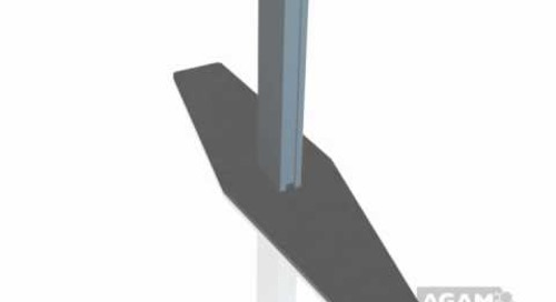AGAM Extrusion PH1005 Floor Base Stem with Diamond Base Plate