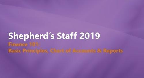 Shepherd's Staff   Finance 101  Basic Principles & Chart of Accounts