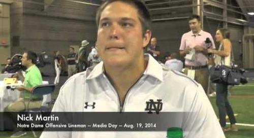 Notre Dame OL Nick Martin - Media Day 2014