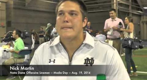 Notre Dame OL Nick Martin - Media Day 2014