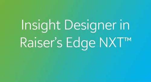 Raiser's Edge NXT - Insights Designer