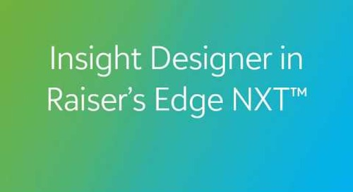 Raiser's Edge NXT - Insights Designer