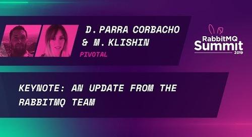 [X] Keynote: An update from the RabbitMQ team (version 3.8) - Michael Klishin & Diana Parra Corbacho