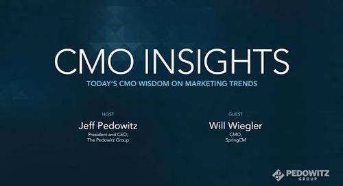 CMO Insights: Will Wiegler, CMO of SpringCM