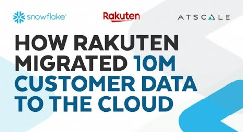 How Rakuten Migrated the Data of 10 Million Customers to the Cloud