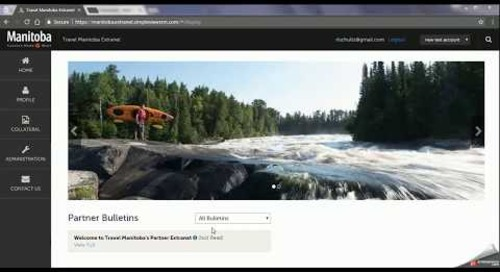 Travel Manitoba Partner Extranet 4.0 - Accounts