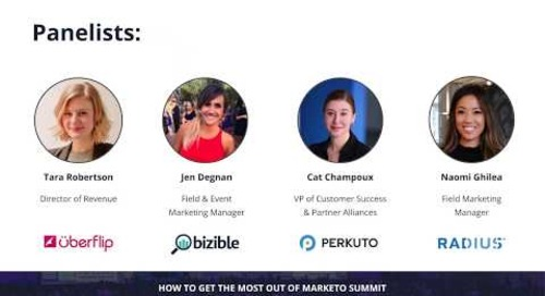 How to Get the Most out of Marketo Summit 2018