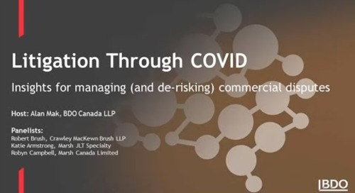 Litigation through COVID: Insights for managing and de-risking commercial disputes   BDO Canada