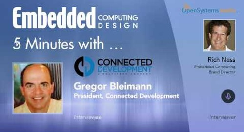 Five Minutes With…Gregor Bleimann, President, Connected Development