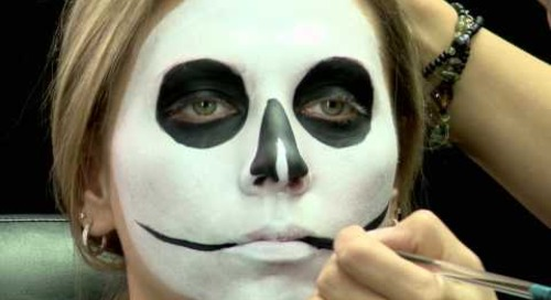 Skull face for Halloween - Makeup Tutorial - Cirque du Soleil