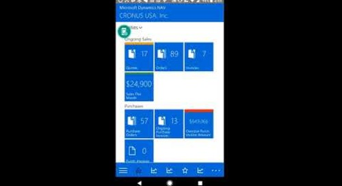 Demo of the Tablet Client, Web Client, and Phone Client in Microsoft Dynamics NAV 2017