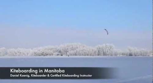 Kiteboarding in Manitoba
