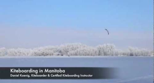Kiteboarding in Manitoba