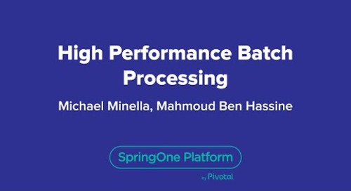 High Performance Batch Processing