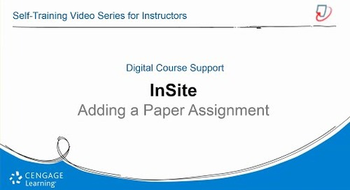 InSite2: Adding a Paper Assignment
