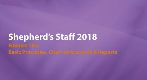 Shepherd's Staff: Finance 101 - Basic Principles & Chart of Accounts