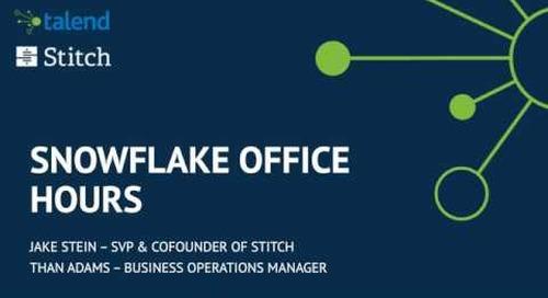Webinar: Snowflake Office Hours: Stitch