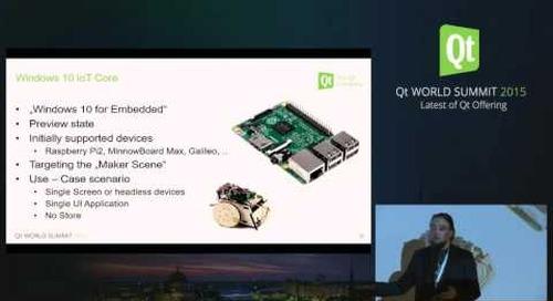 QtWS15- Qt and Windows 10, Maurice Kalinowski, The Qt Company