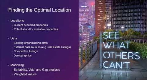 Location, Location, Location: Leveraging ArcGIS Business Analyst for Location Analytics