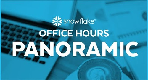 Snowflake Office Hours: Panoramic