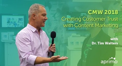 CMW 2018: Tim Walters on establishing trust throughout the customer lifecycle journey