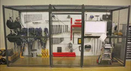 Welded Woven Wire Mesh Security Cage Partitions