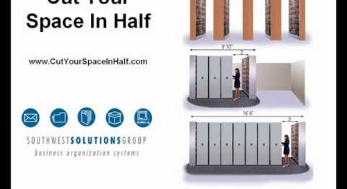 Rolling Sliding Open Vertical Shelving On Tracks Info@SouthwestSolutions.com