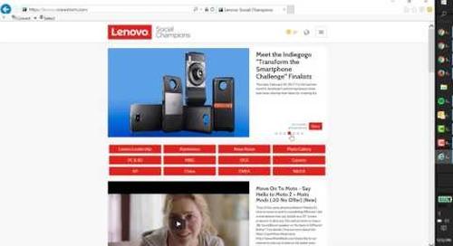 DCG: Become a Lenovo Social Champion