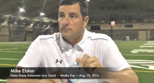 Notre Dame DL Coach Mike Elston - Media Day 2014