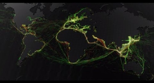 Marine Traffic – A visualisation of global shipping data