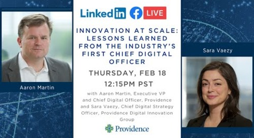 Innovation at Scale - Lessons learned from the industry's first Chief Digital Officer