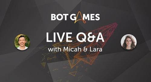 #BotGames Weekly Wrap Up (Week 2)