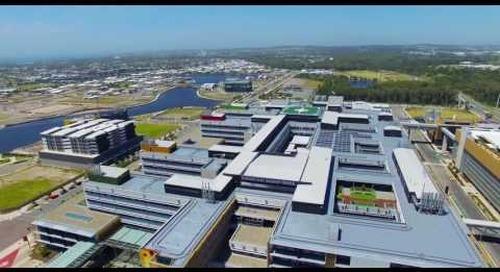 The Sunshine Coast University Hospital drone flythrough, November 2016