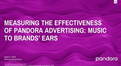 Measuring the Effectiveness of Pandora Advertising: Music to Brands' Ears