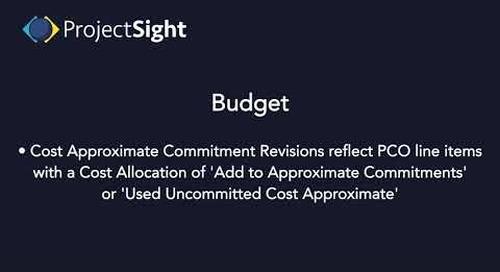 ProjectSight Training - Budget