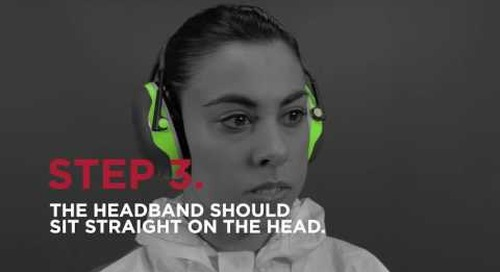 How to use ear muffs.