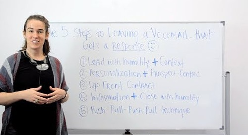 The 5 Steps to Leaving a Voicemail that Gets a Response (ft. Becc Holland)