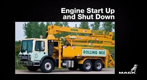 Mack TerraPro Concrete Boom Pump - Part 3: Starting Up and Shutting Down the Engine