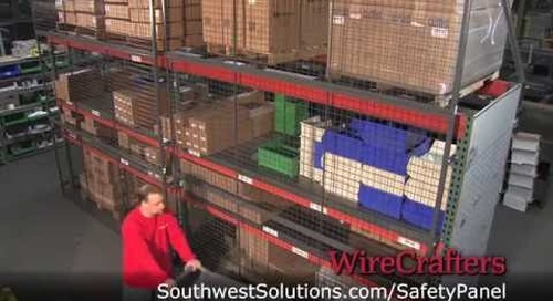 Pallet Rack Safety Panels Overhead Protection for Warehouse Walkways