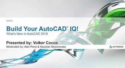 Webinar: What's New in AutoCAD 2019