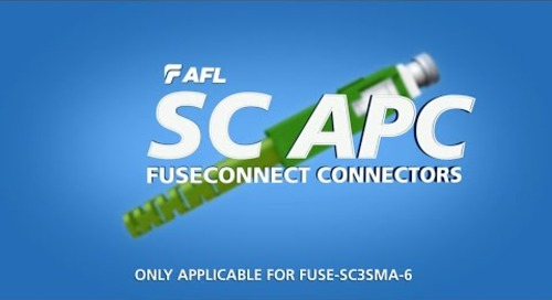 Installation Instruction for SC/APC FUSEConnect® Fusion-Spliced Connectors