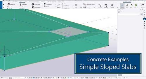Simple Sloped Slabs in Tekla Structures