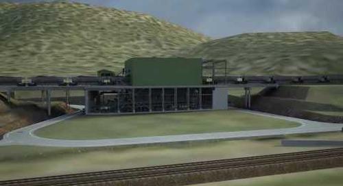 Wiggins Island Coal Terminal 3D model fly-through