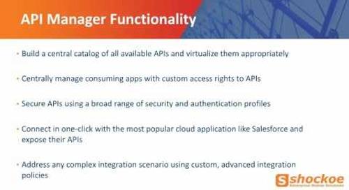 API Catalog  - Why API Manager is so important