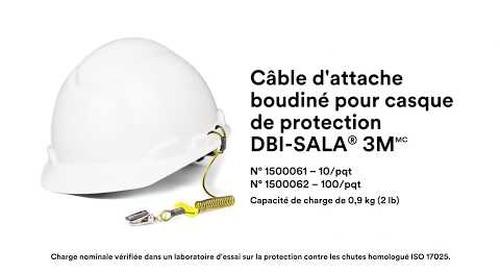 Comment utiliser le Câble d'attache boudiné pour casque de protection DBI-SALA® 3M correctement