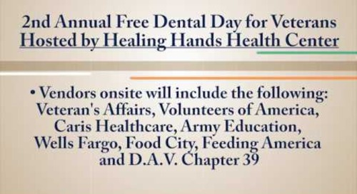 Healing Hands Free Dental Day for Veterans