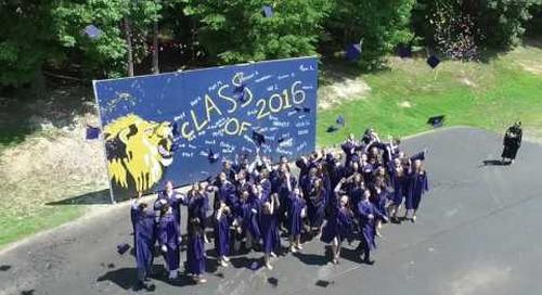 Senior Graduation Cap Toss
