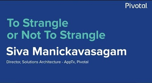 Singapore - Tackling the Monolith - Siva Manickavasagam